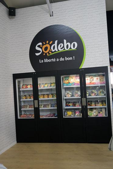 le stand de Sodebo au village du vendee Globe 2016