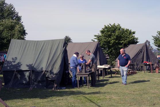 le camp militaire et son materiel